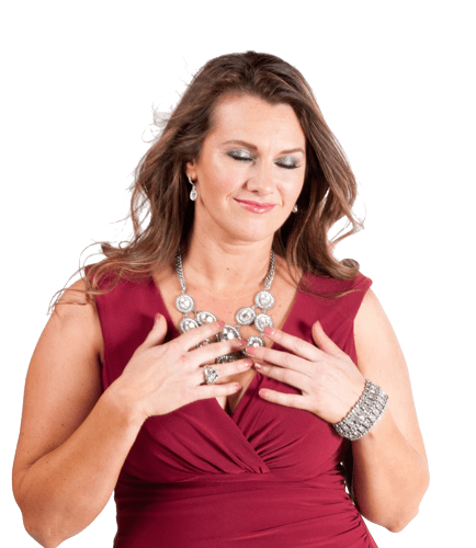 Jennifer Gilchrist Hands over Heart